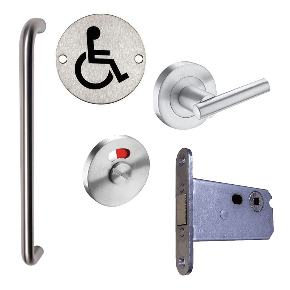 Dtuk908 Dda Door Ironmongery Package