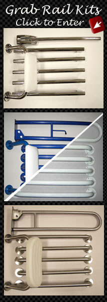 Disabled Toilet Grab Rail Kits